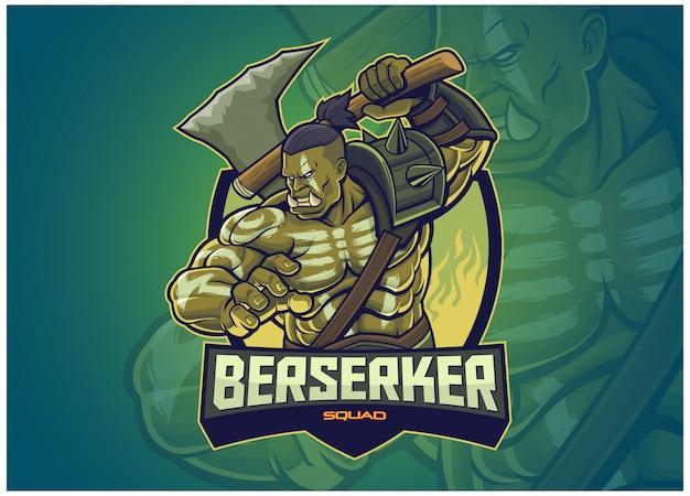 Personagem orc para logotipo do esports