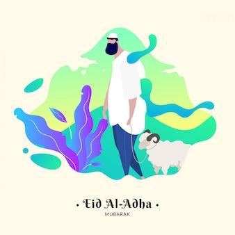 Personagem para o feriado muçulmano eid al-adha