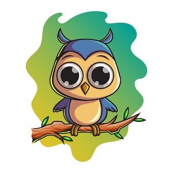 Personagem pássaro azul