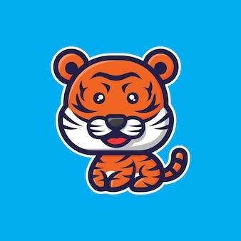 Personagem tigre chibi fofo