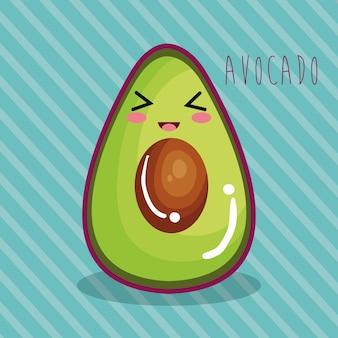 Personagem vegetal fresco de abacate