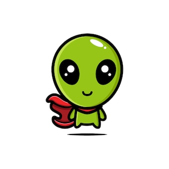 Personagens alienígenas fofos são super-heróis