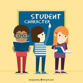 Personagens apartamento de estudante jogo