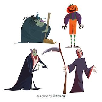Personagens conhecidos da coleção de personagens do dia das bruxas