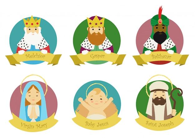 Personagens da cena da natividade