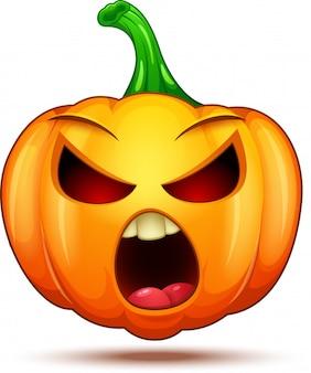 Personagens de abóbora engraçadas, engraçadas e loucas. emoticons de desenhos animados de halloween