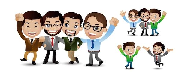 Personagens de amigos definir vetor amigos rindo colegas de escritório