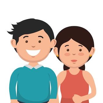 Personagens de avatares casal pai