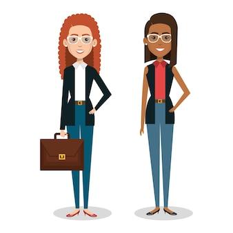 Personagens de avatares de pessoas de negócios