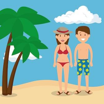 Personagens de avatares de pessoas turistas