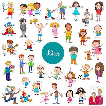 Personagens de crianças dos desenhos animados grande conjunto