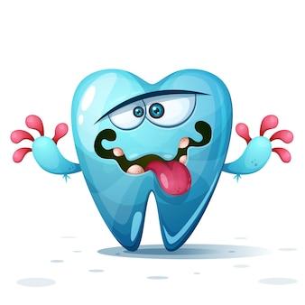 Personagens de dente louco