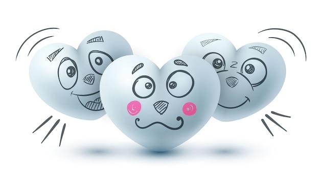 Personagens de desenhos animados bonitos - amor coração.