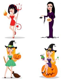 Personagens de desenhos animados bonitos