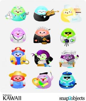 Personagens de desenhos animados com profissões