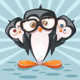 Personagens de desenhos animados de pinguim
