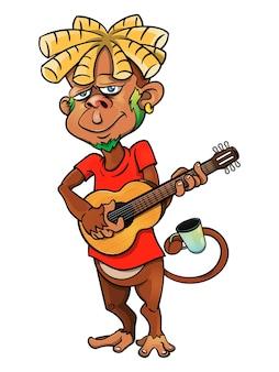 Personagens de desenhos animados dreadlocks monkey buskers
