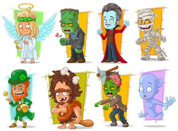 Personagens de desenhos animados legal monstro engraçado