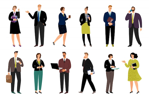 Personagens de desenhos animados negócios