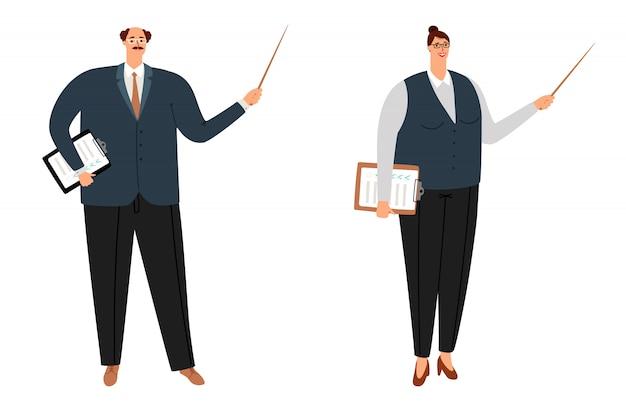 Personagens de desenhos animados professores