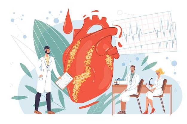 Personagens de desenhos animados simples médicos trabalhando