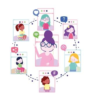 Personagens de educação online