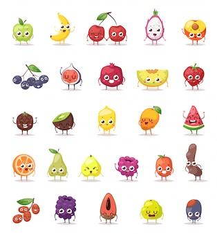 Personagens de frutas