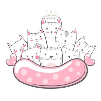 Personagens de gatinho.