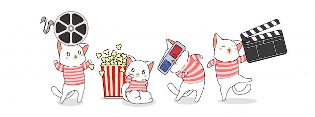 Personagens de gato e filme