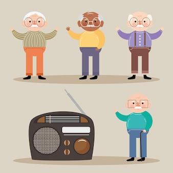 Personagens de homens velhos