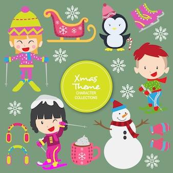 Personagens de inverno natal sally