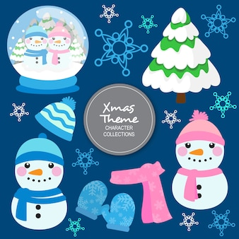 Personagens de inverno natal