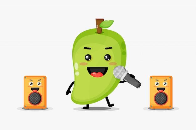 Personagens de mangá fofos estão cantando