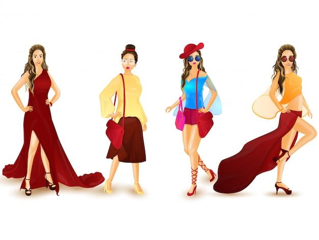 Personagens de menina urbana.