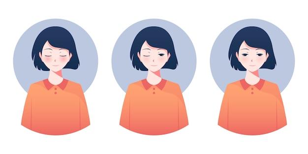 Personagens de meninas anime
