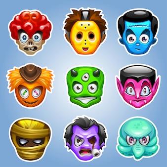 Personagens de monstro dos desenhos animados.