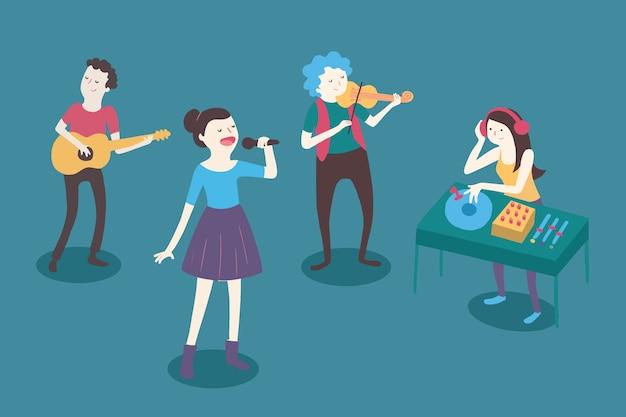 Personagens de músicos