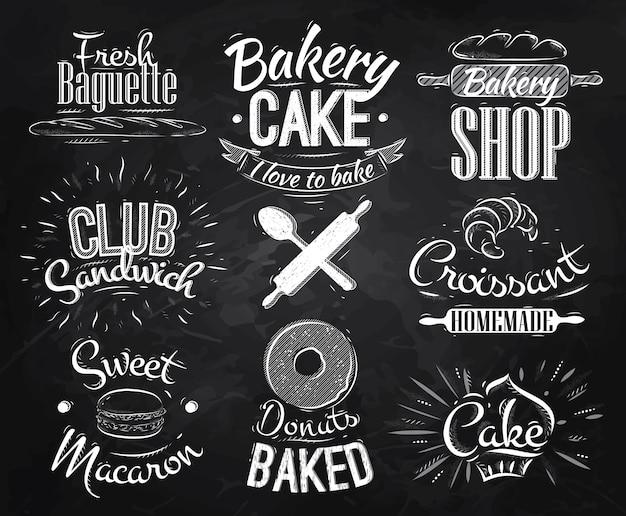 Personagens de padaria de giz