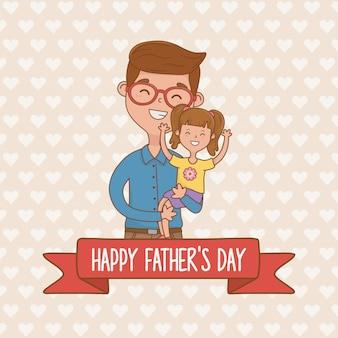Personagens de pai e filha