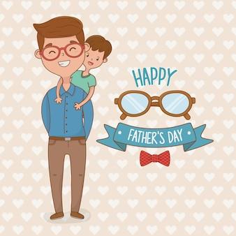 Personagens de pai e filho