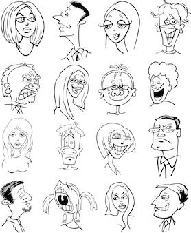 Personagens de personagens de desenhos animados