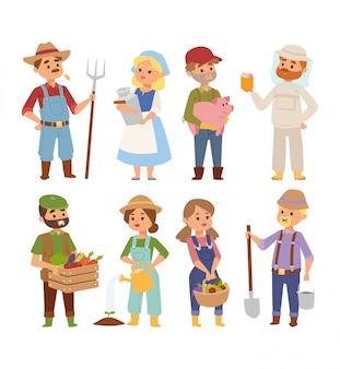 Personagens de pessoas de agricultores