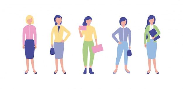 Personagens de pessoas de negócios