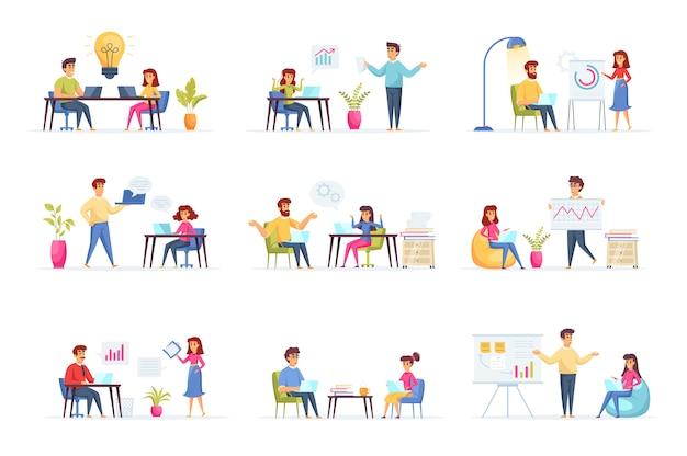Personagens de pessoas para reuniões de negócios