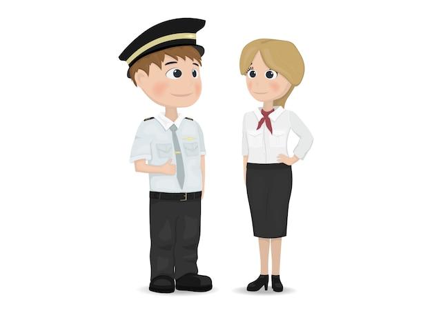 Personagens de pilotos e aeromoças