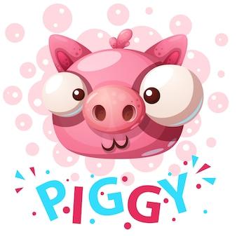 Personagens de porco fofos