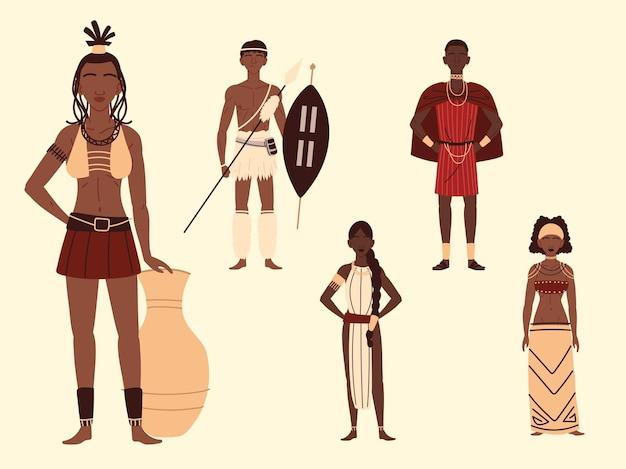 Personagens de povos africanos