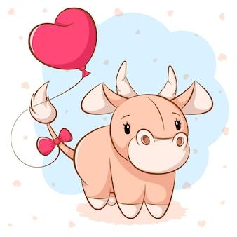 Personagens de vaca louco dos desenhos animados