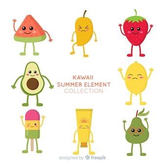 Personagens de verão kawaii