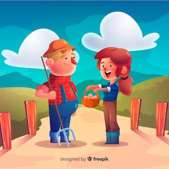 Personagens do casal
